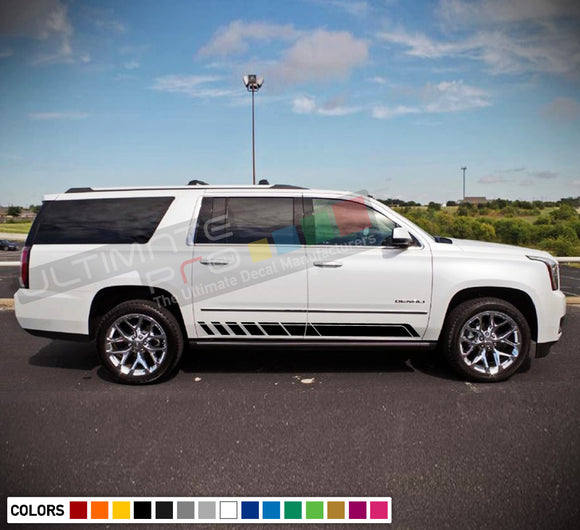 Decal Stickers Side Racing Stripes Compatible with GMC Yukon 2010-Present