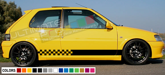 Decal Sticker Side Racing Stripes Compatible with Peugeot 106 Rallye Phase 1 2 16V