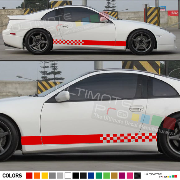 Decal Sticker Side Racing Stripes Compatible with Nissan 300ZX 2012-Present