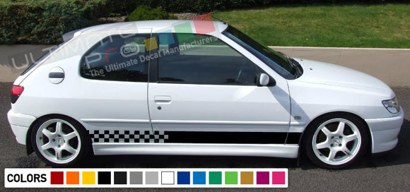 Decal  Vinyl Side Racing Stripes Compatible with Peugeot 208 2010-Present