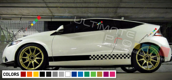 Decal Stickers Vinyl Side Racing Stripes Compatible with Honda CR-Z 2010-Present