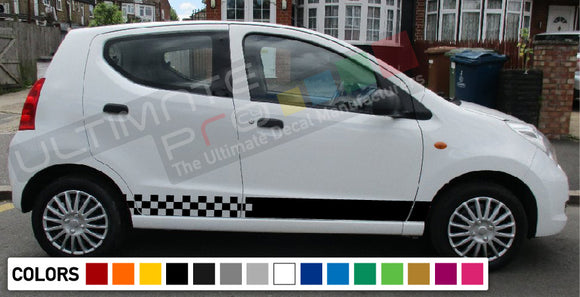 Decal Sticker Side Racing Stripes Compatible with Suzuki Alto 2008-Present