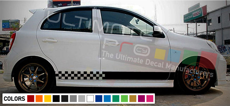 Decal Vinyl Stripes For Nissan Micra 2003-Present