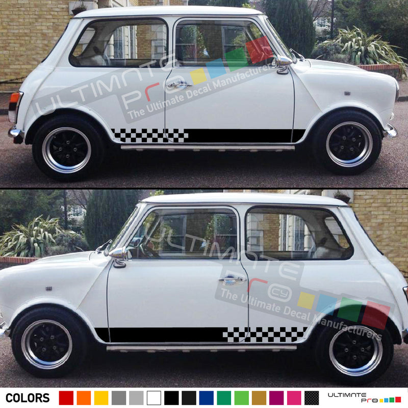 Stripes Decal Sticker Graphic Compatible with Mini Classic
