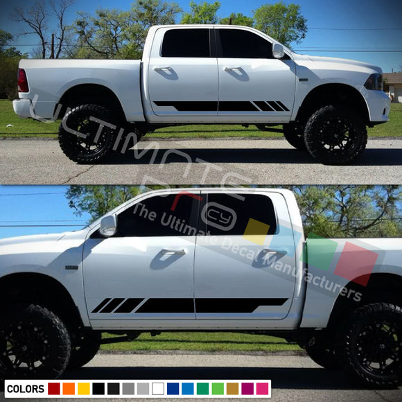 Lower Door Stripes Decal Sticker Dodge Ram 2009 - Present