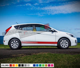 Decal Sticker Vinyl Racing Stripe Compatible with Hyundai Accent 2009-Present