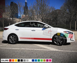 Decal Sticker design Racing Stripe Compatible with Hyundai Elentra 2009-Present