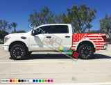 Set of Side Bed American Flag Decal Sticker Graphic Destorder US Flag Compatible with Nissan Titan 2003-Present