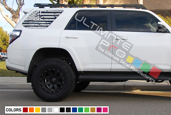 Decals Sticker Back Window Destorder US Flag Kit Toyota 4Runner
