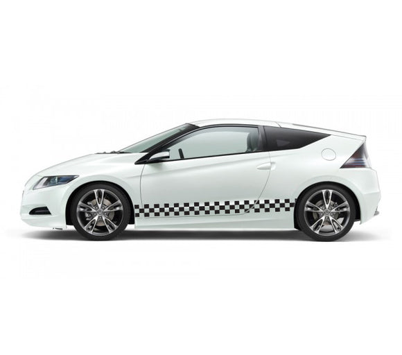 Checkered flag Decal Sticker Vinyl Side Racing Stripes Compatible with Honda CR-Z 2010-Present