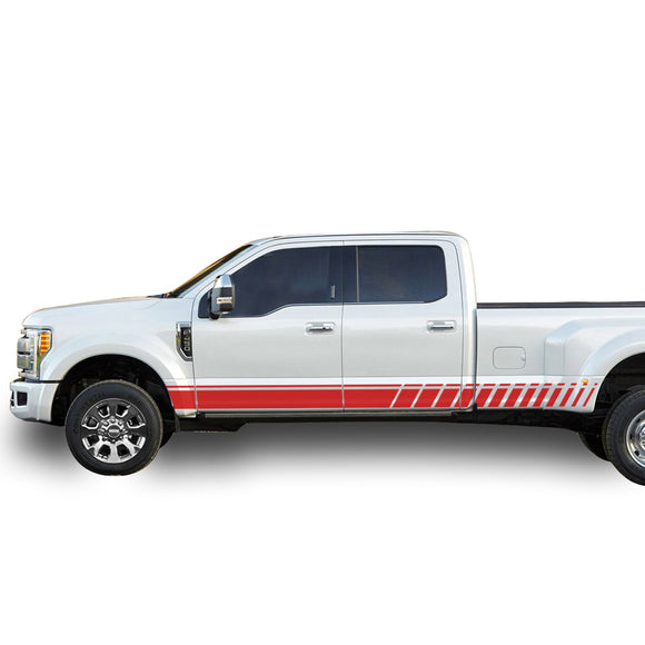 Decal Line Graphic Vinyl Kit Compatible with Ford F450 2013-Present