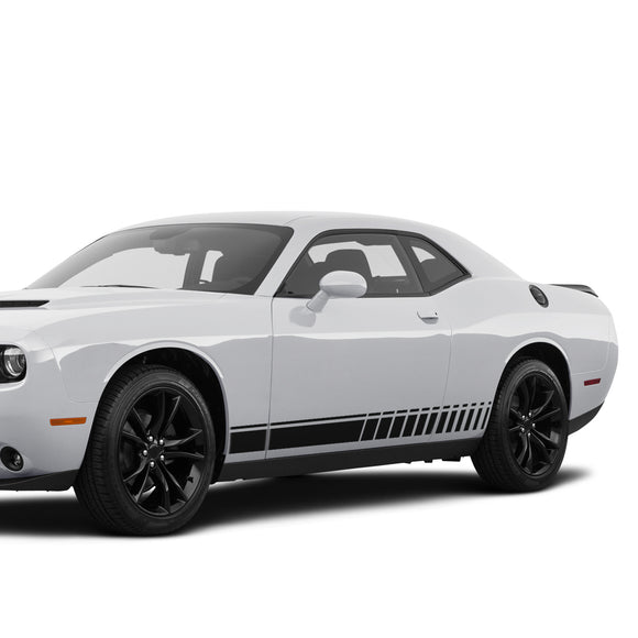 Side Stripes Decal Sticker For Dodge Challenger 2008 - Present