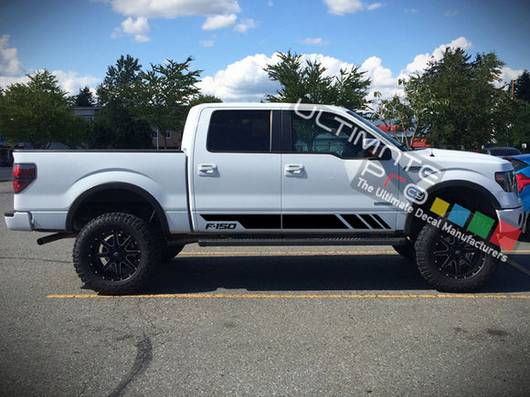 Side Stripes Decal Sticker Graphic Compatible with Ford F150 Series