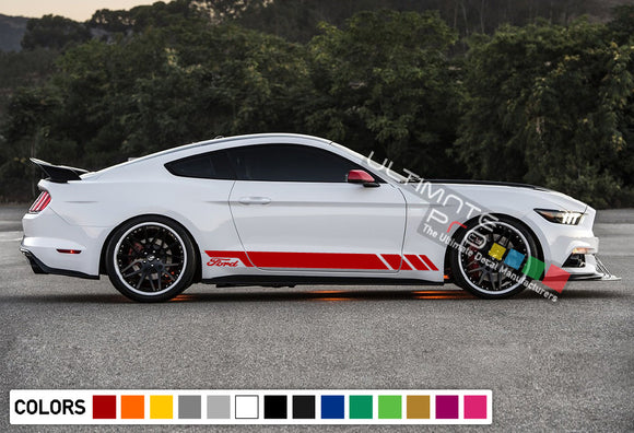Sport Decal Sticker Vinyl Side Racing Stripes Ford Mustang