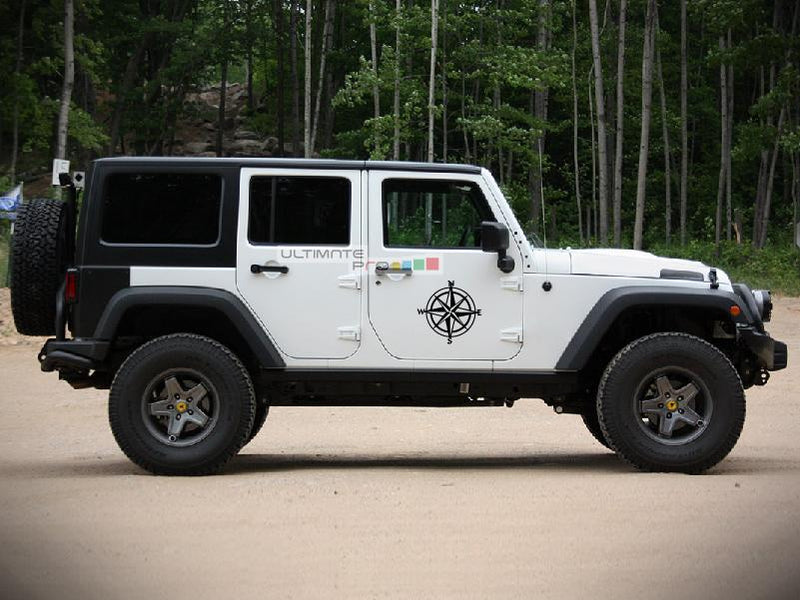 2x Stars Decal CompassSticker Jeep Wrangler RUBICON Jk