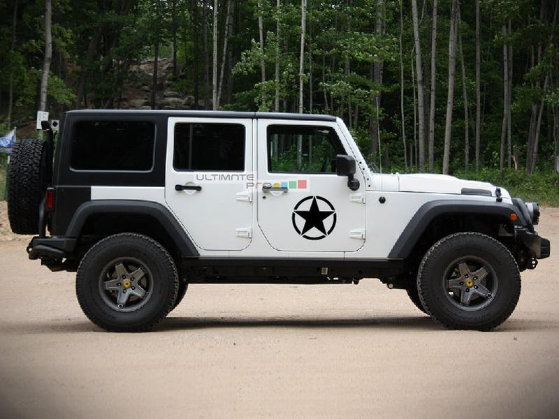 2x Stars Decal Side Star Sticker Jeep Wrangler RUBICON Jk