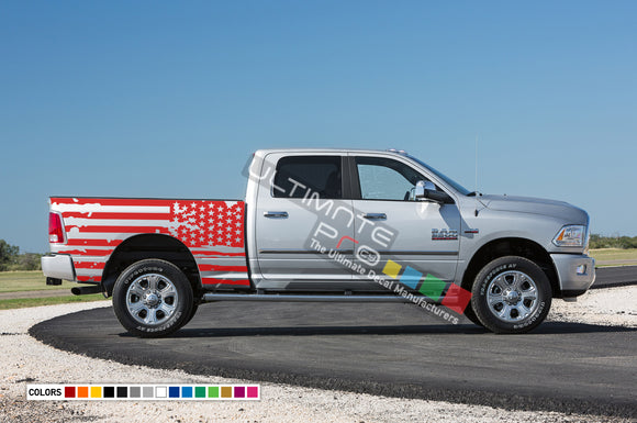 American Flag Decals Tail Sticker Kit Compatible with Dodge Ram