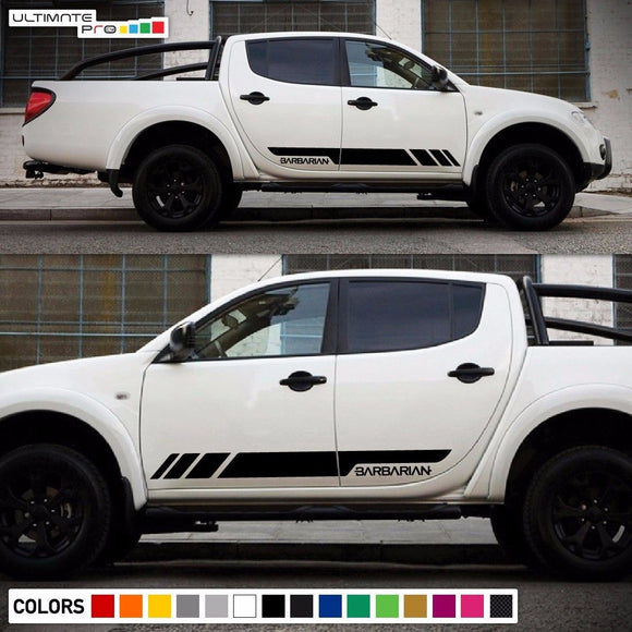 Sticker Side Stripes Compatible with Mitsubishi L200