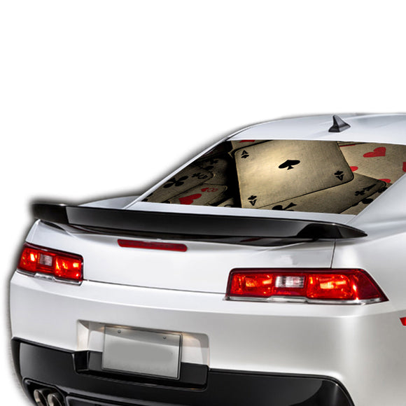Ace Card Perforated for Chevrolet Camaro decal 2015 - Present