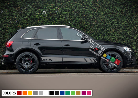 Decal Sticker Vinyl Side Sport Stripe Kit Compatible with Audi Q5