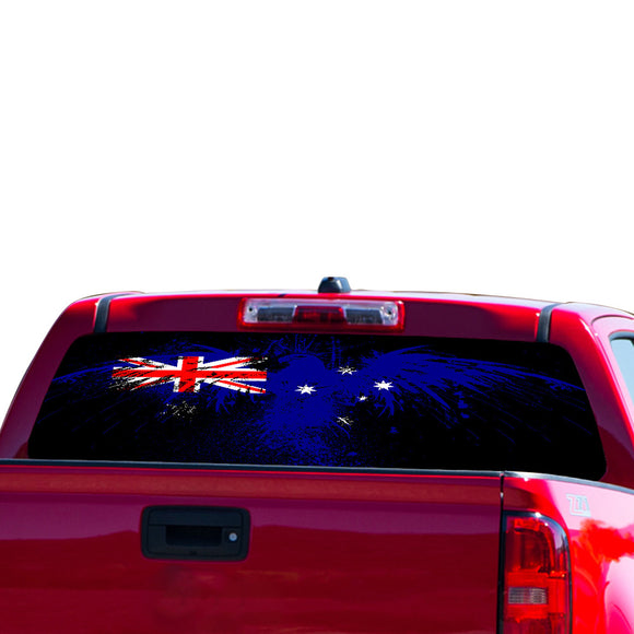 Flag Australia Perforated for Chevrolet Colorado decal 2015 - Present
