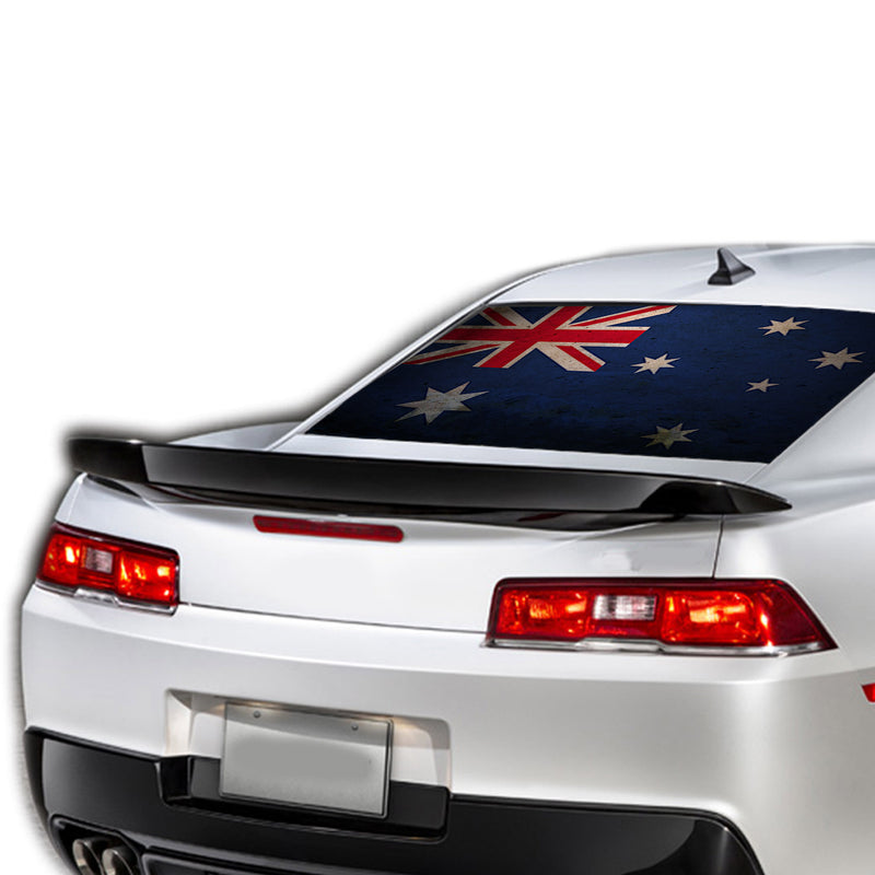 Australia Flag Perforated for Chevrolet Camaro decal 2015 - Present