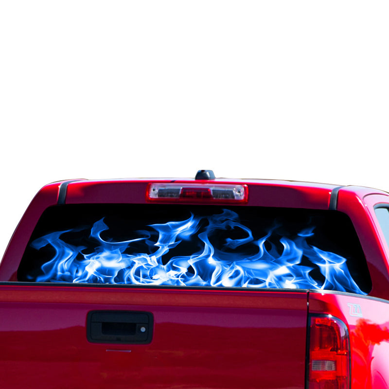 Blue Flames Perforated for Chevrolet Colorado decal 2015 - Present