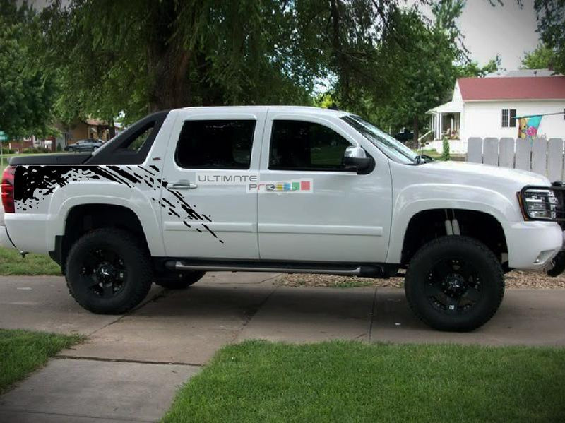Bed Mud Splash Vinyl Sticker Compatible with Chevrolet Avalanche