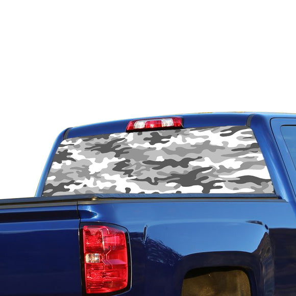 White Camo Perforated for Chevrolet Silverado decal 2015 - Present