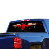 Eagle Canada Flag Perforated for Chevrolet Silverado decal 2015 - Present