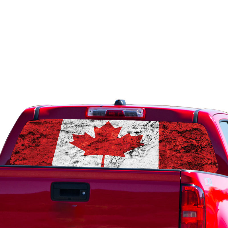 Canada Flag Perforated for Chevrolet Colorado decal 2015 - Present