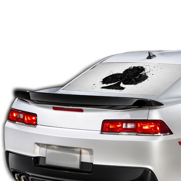 Card Ace Perforated for Chevrolet Camaro decal 2015 - Present