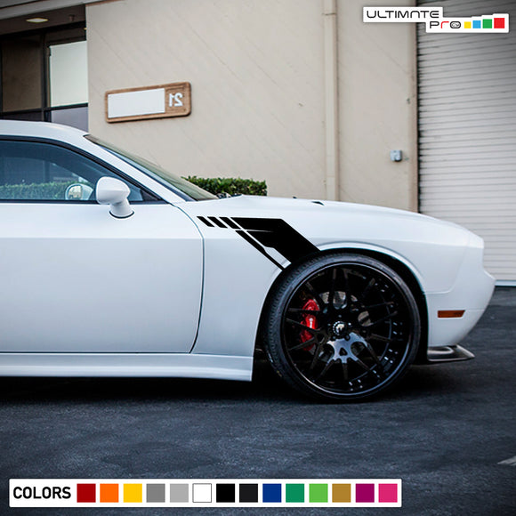 Side Fender Stripes Decal Vinyl For Dodge challenger RT SRT8 2008 - Present