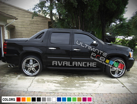 Vinyl Decal Sticker Graphic Chevrolet Avalanche