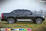 Side door Design Sticker, vinyl for Chevrolet Avalanche decal 2015 - Present