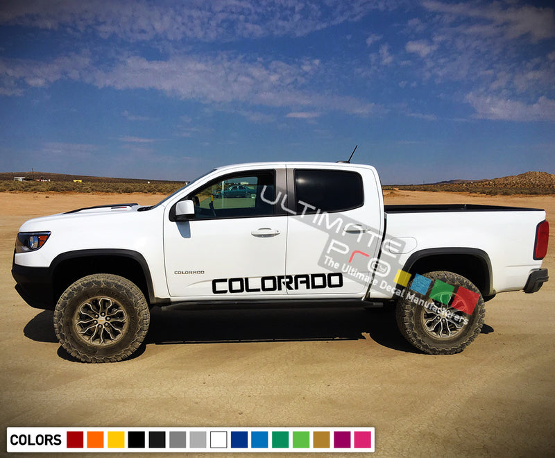 Decal Sticker Vinyl Kit Compatible with Chevrolet Colorado 2012-2017