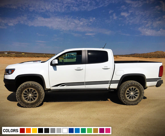Side Lines Decals, vinyl Design for Chevrolet Colorado decal 2012 - Present