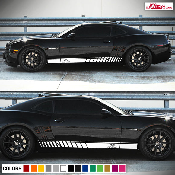 Side door stripes, vinyl design for Chevrolet Camaro decal 2006 - Present