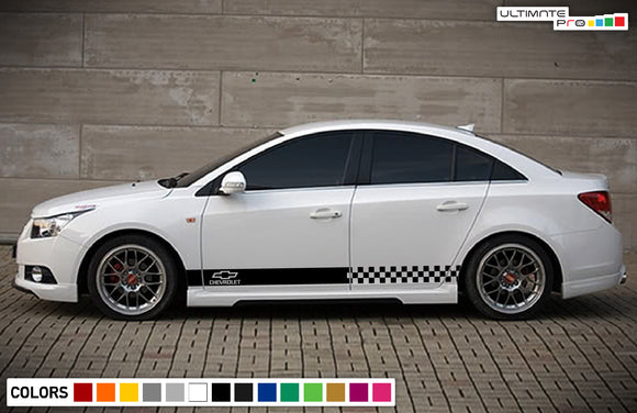 Side door sticker, vinyl design for Chevrolet Cruze decal 2009 - Present