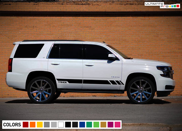 Side door letters stripes, vinyl design for Chevrolet Tahoe decal 2008 - Present