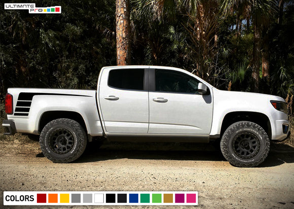 Side Bed decal, vinyl design for Chevrolet Colorado decal 2012 - Present