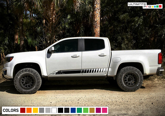 Side Mountain sticker, vinyl design for Chevrolet Colorado decal 2012 - Present