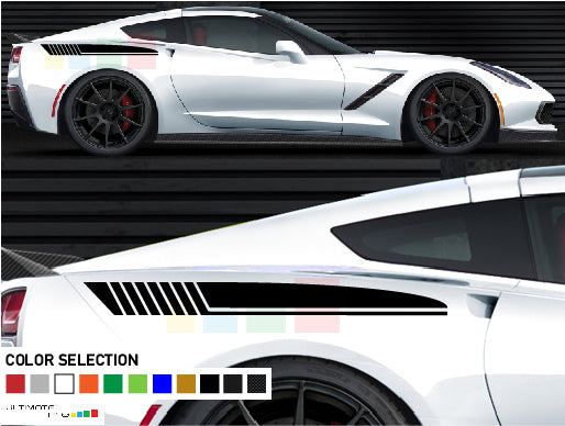 Side stripes sticker for Chevrolet Corvette Stingray decal 2012 - Present