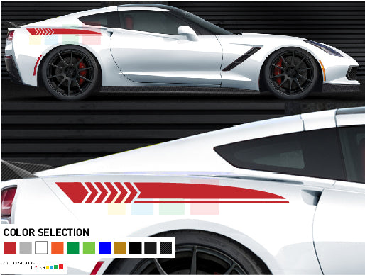 Side sticker stripes for Chevrolet Corvette Stingray decal 2012 - Present