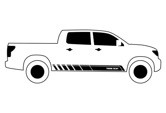 Custom Stripes 1, Vinyl Design For Toyota Tundra Decal 2007 - Present
