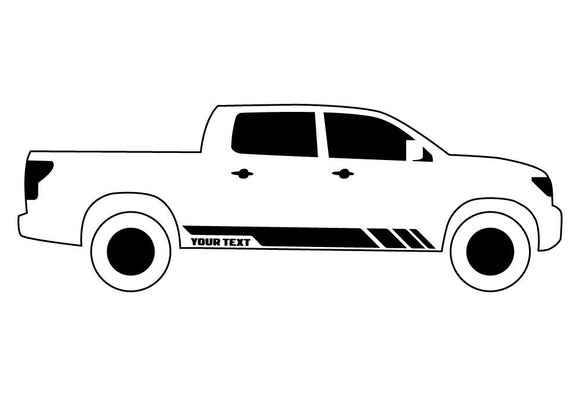 Custom Stripes 2, Vinyl Design For Toyota Hilux Decal 2007 - Present