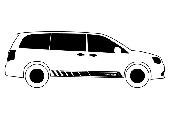 Custom Stripes 2, Vinyl Design For Toyota RAV4 Decal 2013- Present