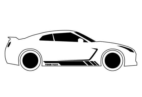 Custom Stripes 2, Vinyl Design For Toyota Supra Decal 2005 - Present