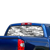 White Army Perforated for Toyota Tundra decal 2007 - Present
