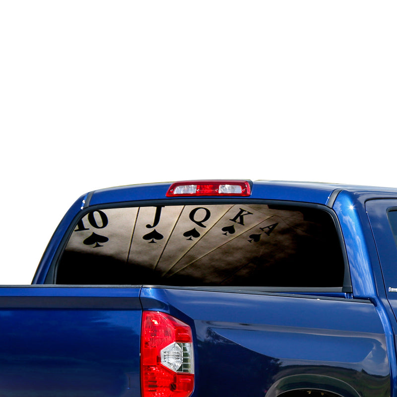 Play Cart Perforated for Toyota Tundra decal 2007 - Present
